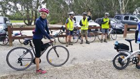 We welcomed Helen to Cycling Geelong's river ride