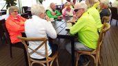 Stephanie shares a cuppa with Ballarat Scenic Cyclists