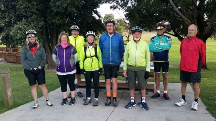 The group at Rippleside Park